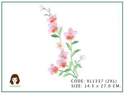 ดอกไม้ช่อสีชมพูเกสรทอง
