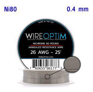 ลวดม้วน WIREOPTIM Ni80 26awg 25ft